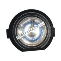 Mahindra Bolero Type 3 - Foglight Black Rim Clear Glass, Blue Bulb, Without Coupler - FF-5002GM