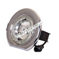 Mahindra Bolero Type 3 - Foglight Chrome Rim, Clear Glass With Coupler - FF-5002BM