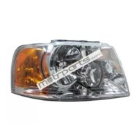 Mahindra Scorpio Type 2 - Headlight Assembly Left Without Bulb Holder - HL-5654