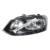 Volkswagen Polo, Vento - Headlight Assembly Left Black Bezel - HL-5594A