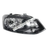 Volkswagen Polo, Vento - Headlight Assembly Right Black Bezel - HL-5593A
