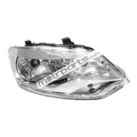 Volkswagen Polo, Vento - Headlight Assembly Right Chrome - HL-5593